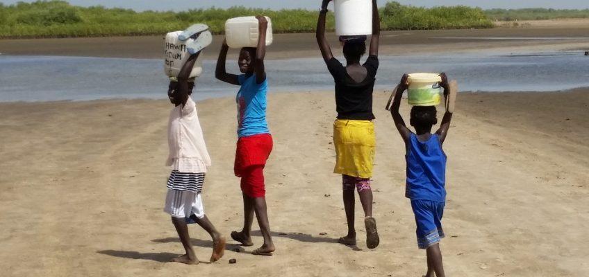 L'eau des îles du Saloum